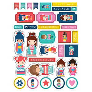 ml little asian doll stickers