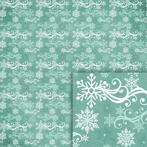 winter swirl snowflakes background paper