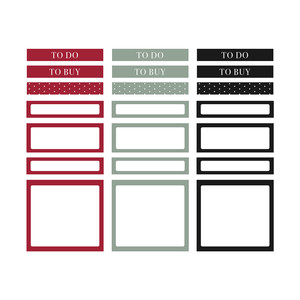 fj holly planner labels