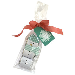 snowman mini candy bar wraps