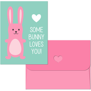 valentine print and cut bunny