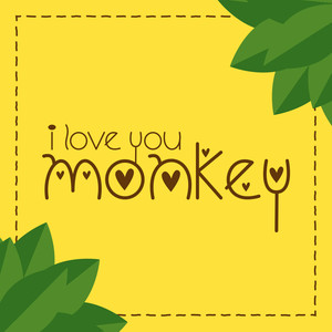 i love you monkey font
