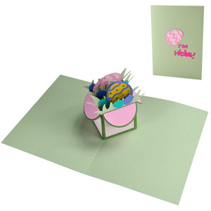 easter egg pop up box in a card