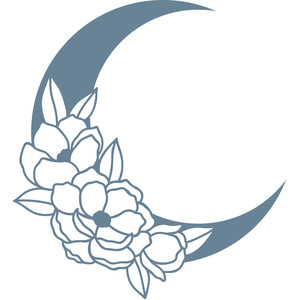 moon with flowers