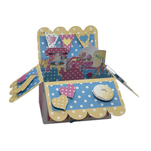 baking pop up card in a box