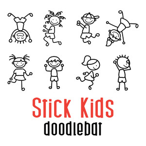 stick kids doodlebat