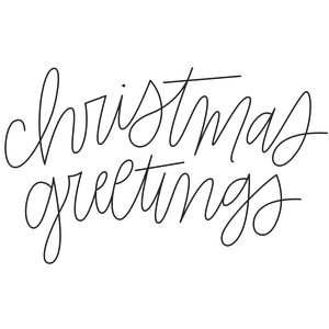 sketch handwritten christmas greetings phrase