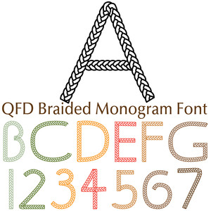 qfd braided monogram font