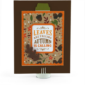 changing scene card autumn leaves