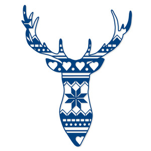pattern stag head
