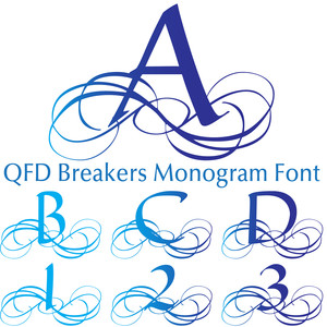 qfd breakers monogram font