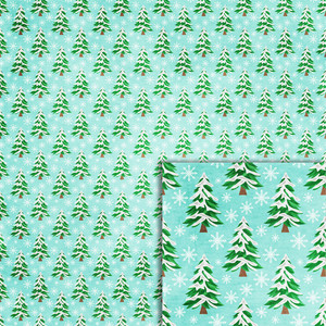 pine trees background paper