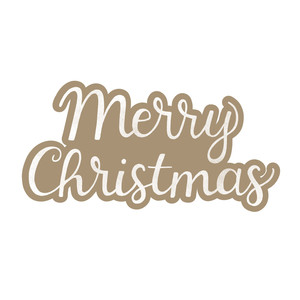 kraft paper merry christmas