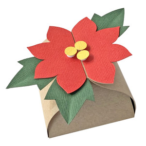 slide box with poinsettia