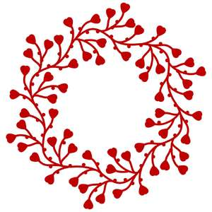 entwined hearts wreath