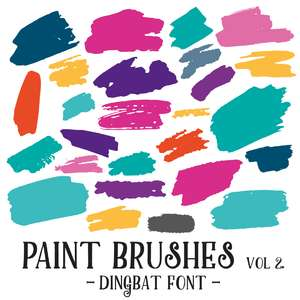 paint brushes vol 2 dingbat font