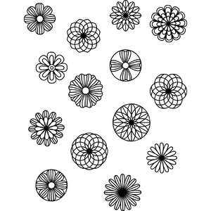 flower circle coloring stickers