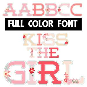 kiss the girl color font