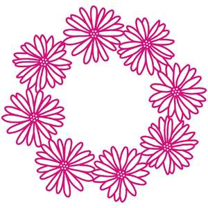 summer daisy wreath or frame