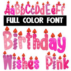 birthday wishes pink color font