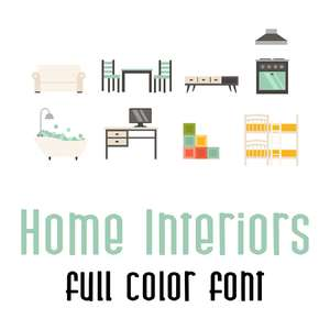 home interiors full color font