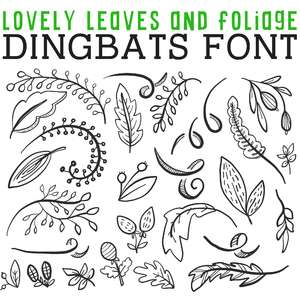 cg lovely leaves and foliage dingbats