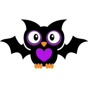 halloween owl with bat wings