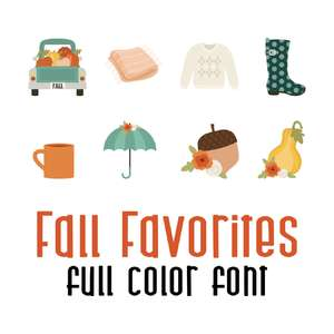 fall favorites full color font