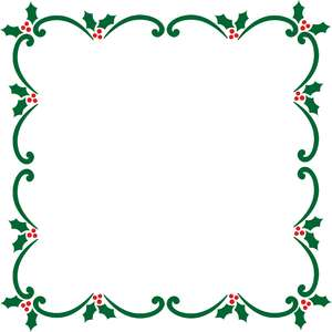 holly ornaments frame