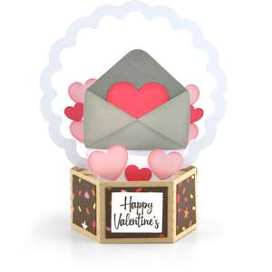 hexagon pop up card valentine envelope