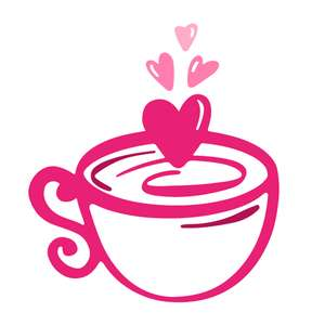 cup with hearts