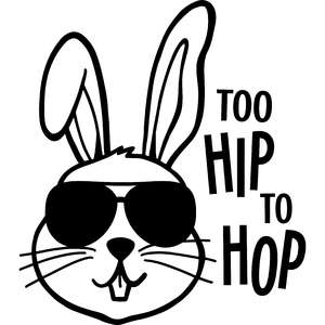 too hip to hop easter rabbit
