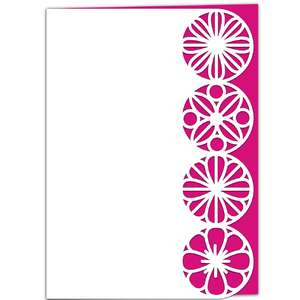 geometric flowers lace edged card