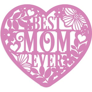 best mom ever floral heart