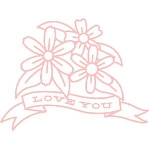 love you flowers banner