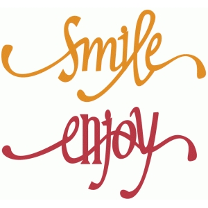 smile & enjoy flourish words