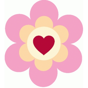 layered heart flower embellishment