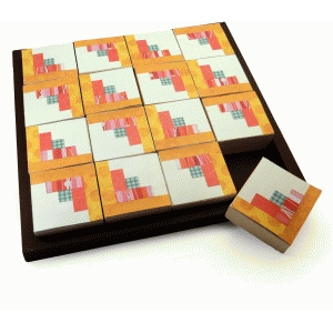quilt blocks puzzle log cabin