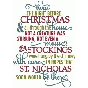 twas night before christmas - layered poem