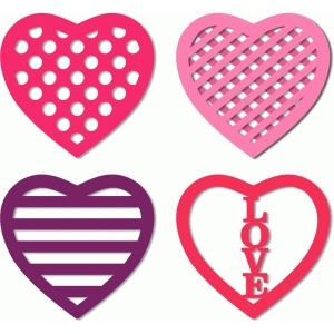 4 cut out patterns hearts