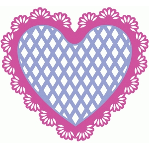 lace heart doily