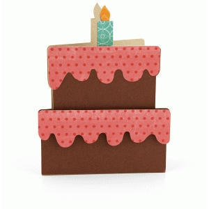 a2 birthday cake shaped card