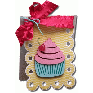 scallop shaped cupcake a2 card