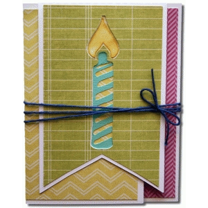 a2 candle fancy fold card