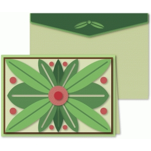 leaf tribal 5x7 card and envelope