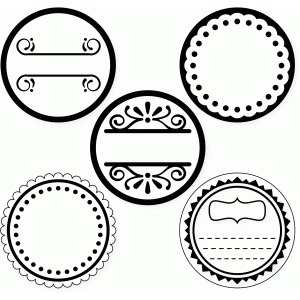 labels 5 round for canning jars top