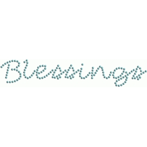 blessings - rhinestone word collection