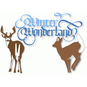 winter wonderland deer