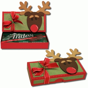 3d reindeer candy box