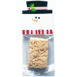 snowman red treat bag topper